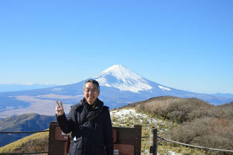 Hakone tour; View of Mt. Fuji from Mt. Koma