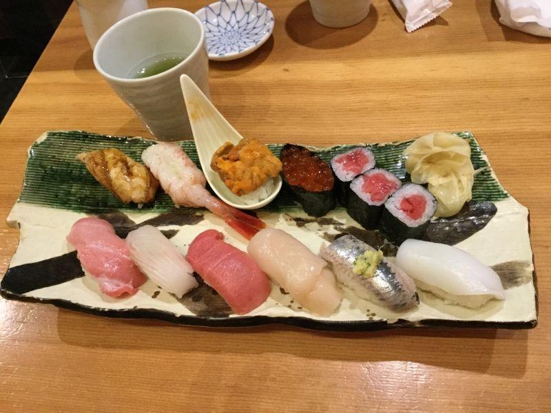 Tokyo tour, Sushi Lunch
