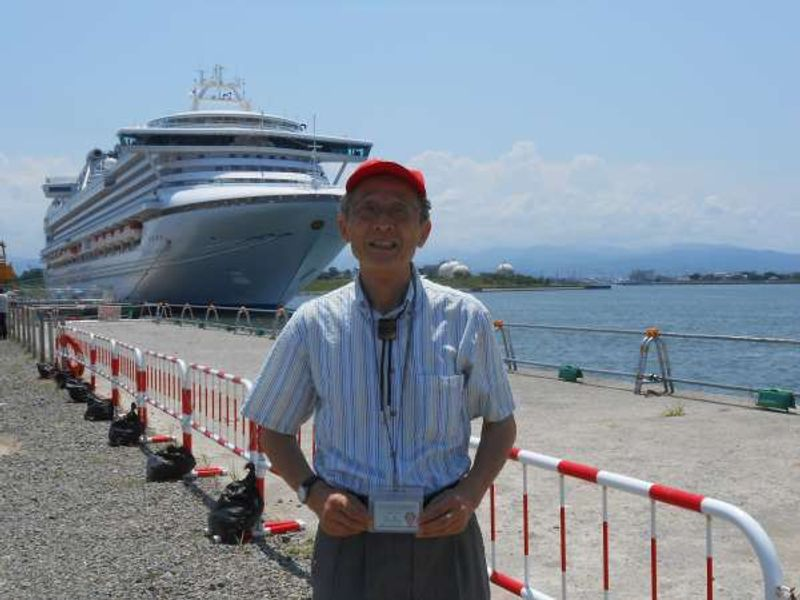 Before starting the tour of Kanazawa for Cruise ship passengers