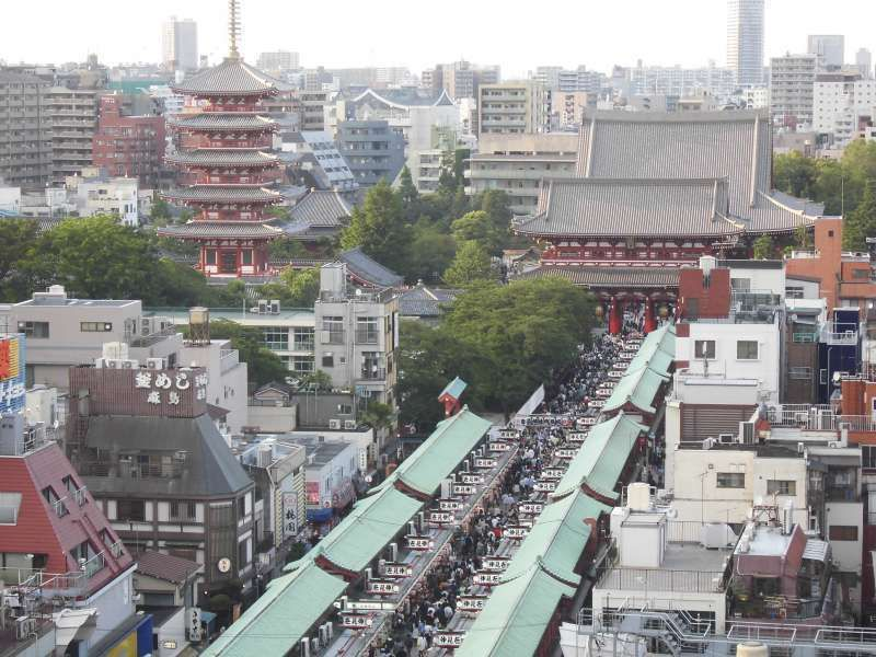 Senso-ji Temple, Five-storied Pagoda and Nakamise Shopping Street