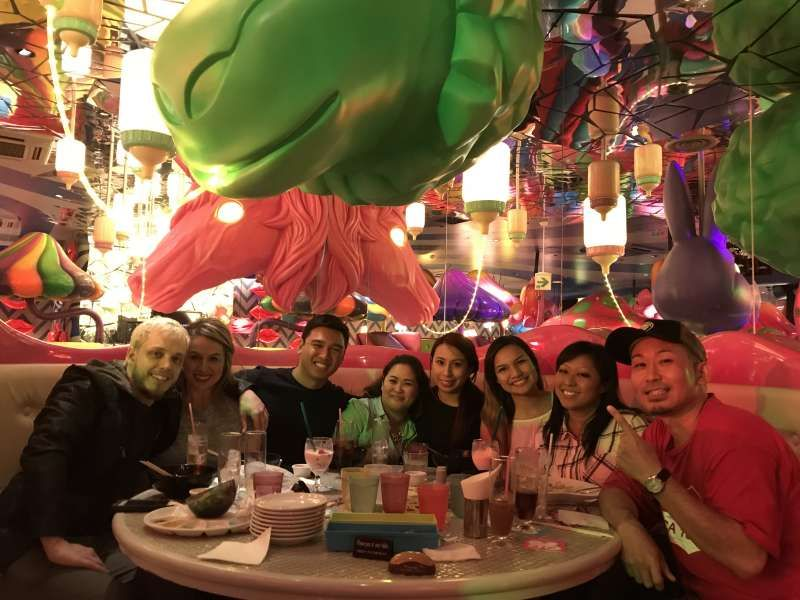 with Guests from USA at Kawaii Monster Cafe in Harajuku