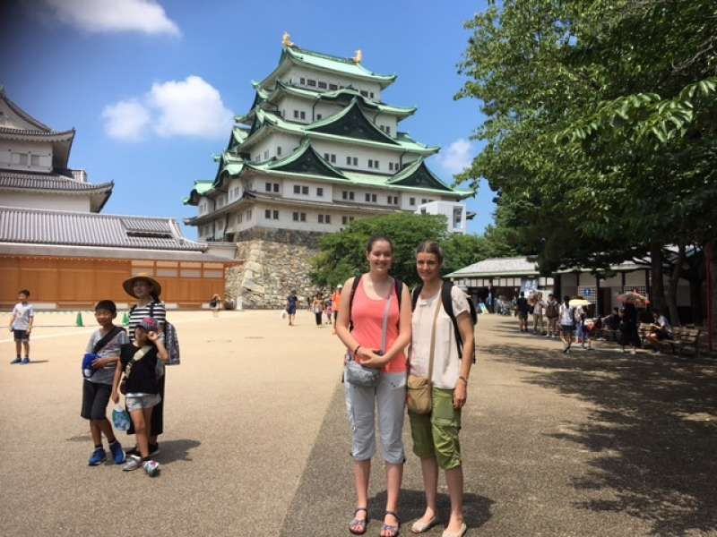 My lovely clients enjoyed Nagoya Castle, Robot Contest in Nagoya (the Netherlands)