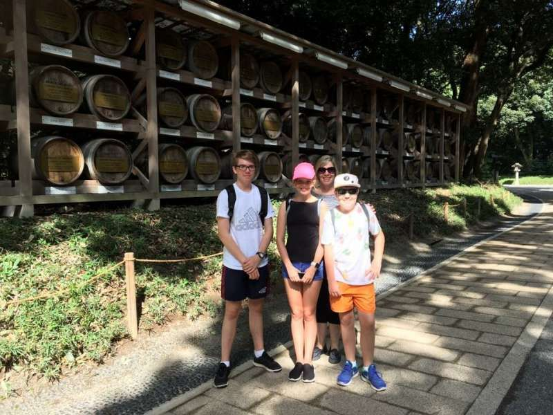 My lovely clients enjoyed the Imperial Palace, Meiji Shrine, Sensoji Temple and Skytree. The kids speak Japanese a little. (Queensland, Australia)
