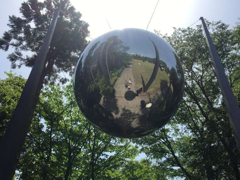 My lovery clients enjoyed Hakone Open Museum. We are in the globe.(Australia)