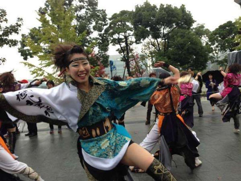 Yosakoi dance festival in Odaiba.