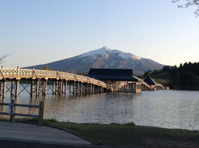Mont Iwaki vu du parc Tsugaru-Fujimi