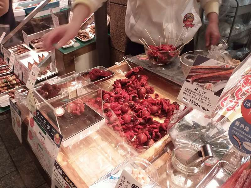 The Nishiki has more than 130 small shops and restaurants