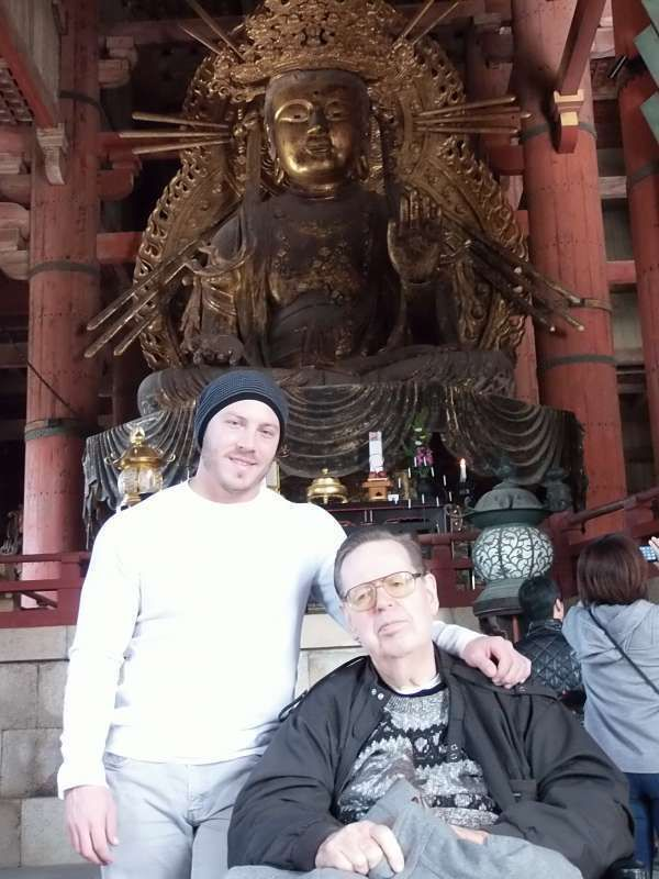 Daibutsu, a large statue of Buddha,in Nara,is housed in one of the largest wooden hall of the world.