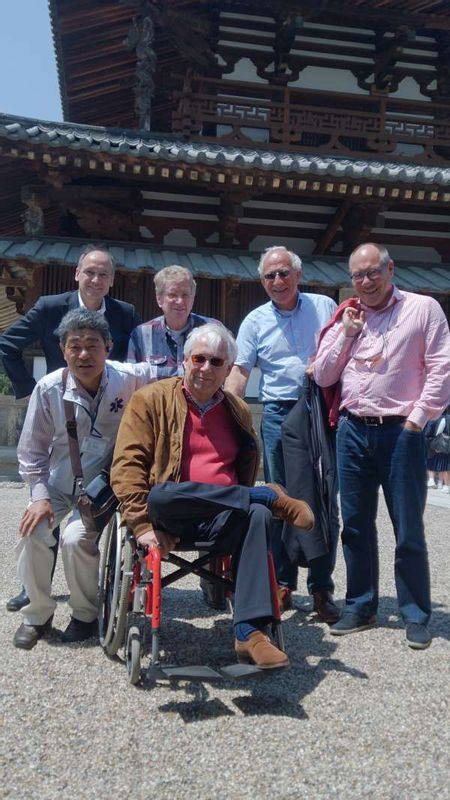 Costomers from Netherland at Horyuji Temple