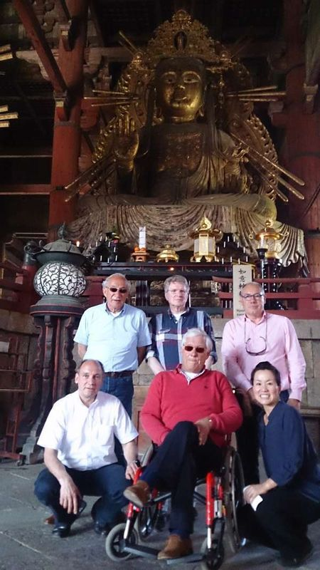 Costomers from Netherland  at Todaiji Temple