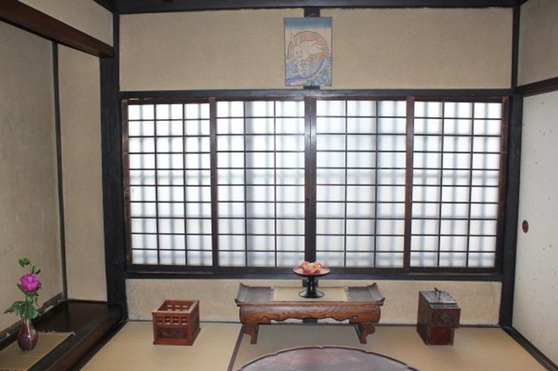 A guest room (Zashiki) in Kawai Kanjiro Memorial House.