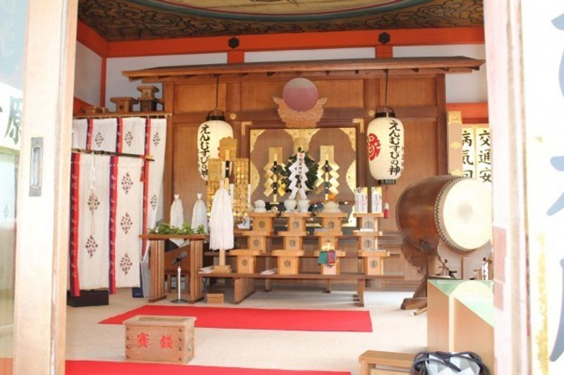 This is Jishu Shrine.  Jisyu Shrine is famous for matchmaking.