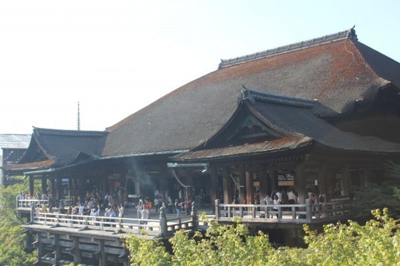 Kiyomizudera,one of the most popular temples in kyoto.  About 4millon people visit this temple every year.