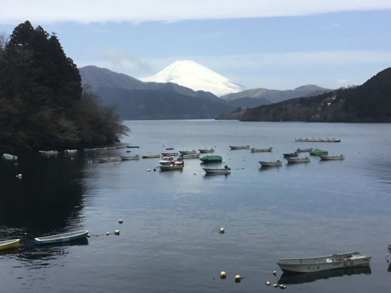 Hakone located inside the big caldera