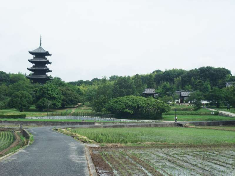 KIbiji district with a pagoda of five stories