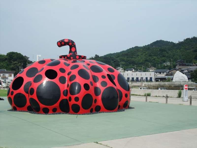 Red Pumpkin in Naoshima Island