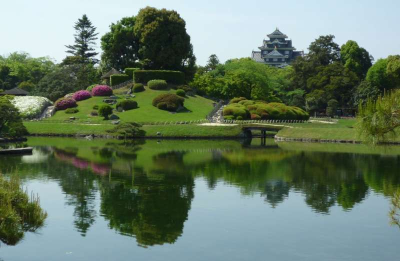 Beautiful Koraku-en Garden during summer time
