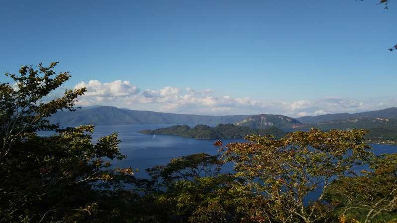 Lake Towada from Hakka Toge Pass