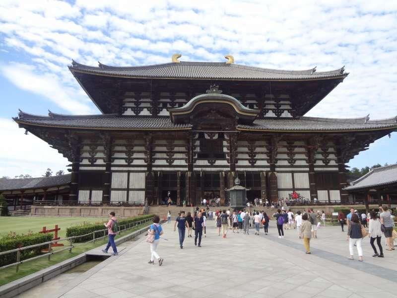 Todaiji temple where Daibutsu is located inside