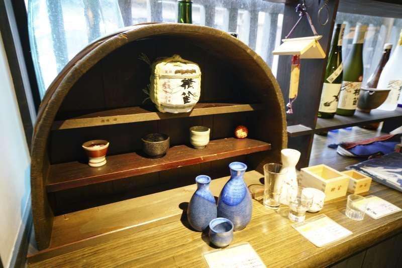 Many kinds of Sake glasses