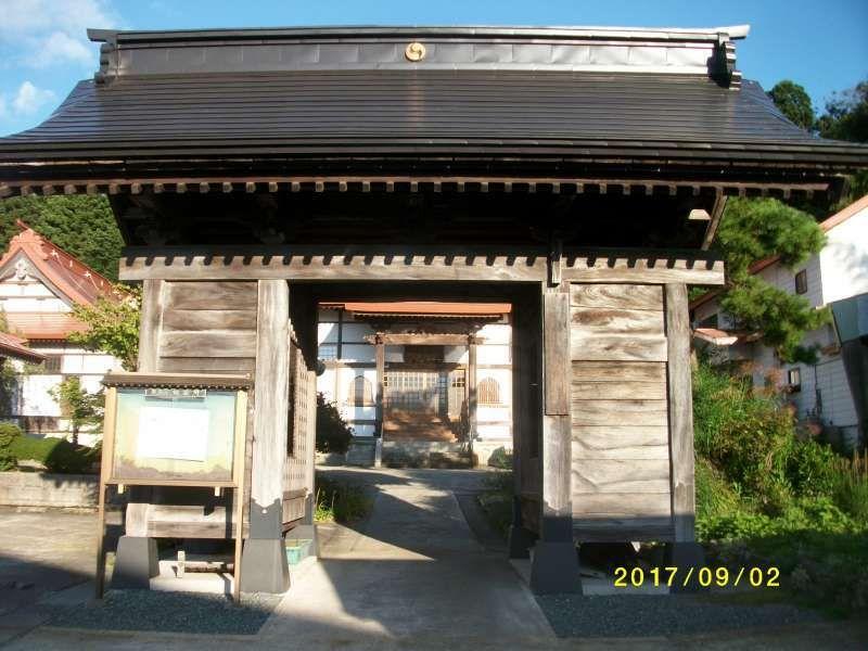 Gate to Sekiunji Temple(Buddhism,Soto Sect)
