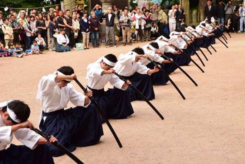 Samurai sword performance