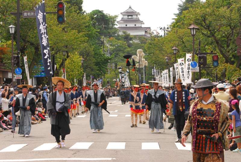 samurai costume parade