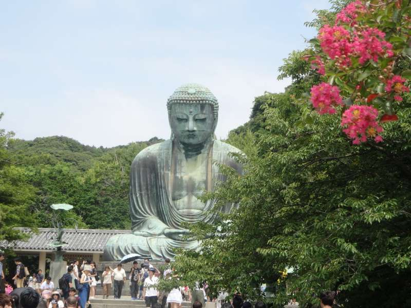 Great Buddha of Kamakura in Kotokuine Temple is one of the 3 most famous Great Buddhas in Japan. It's really worth seeing.