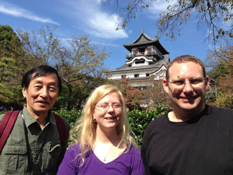 With my first guests from Sweden at Inuyama Castle