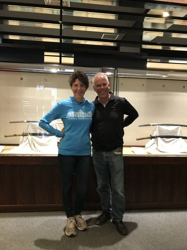 An American couple visited The Seki Traditional Swordsmith Museum.