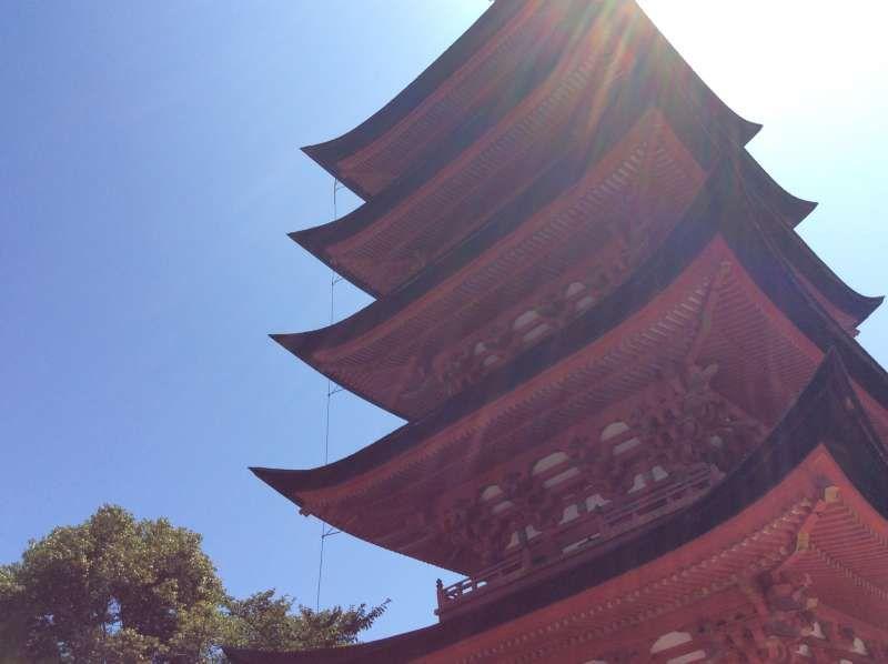 five storied pagoda in Miyajima