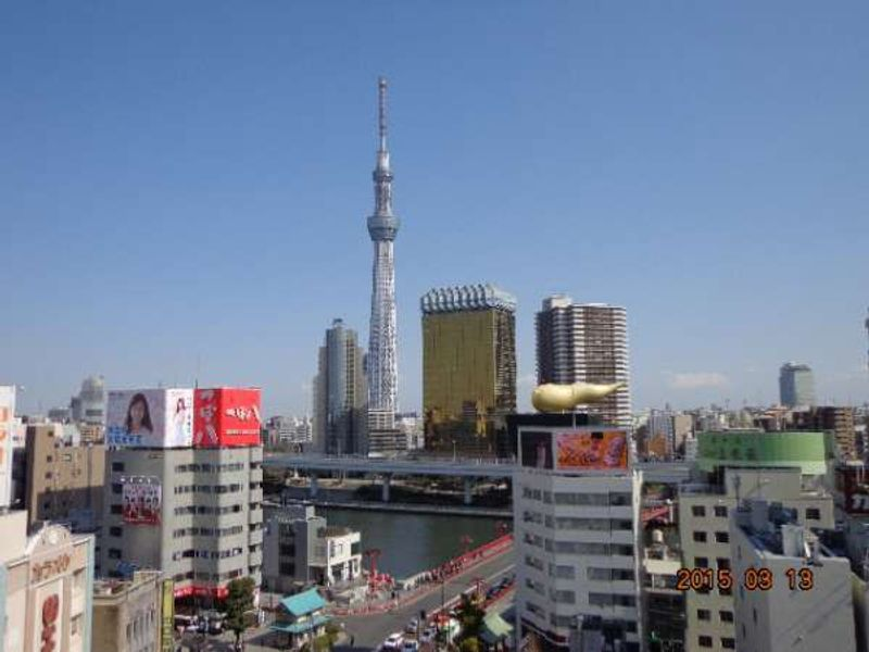 Tokyo Skytree town (Tokyo Skytree(634m) and a 'new downtown-style' commercial facility.