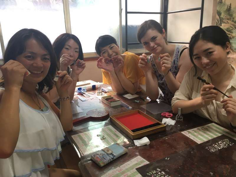 Accessory making with Japanese paper and wood. There are plenty of activities, not only sightseeing !