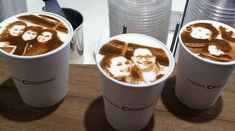 How about a coffee like this American family guests had?