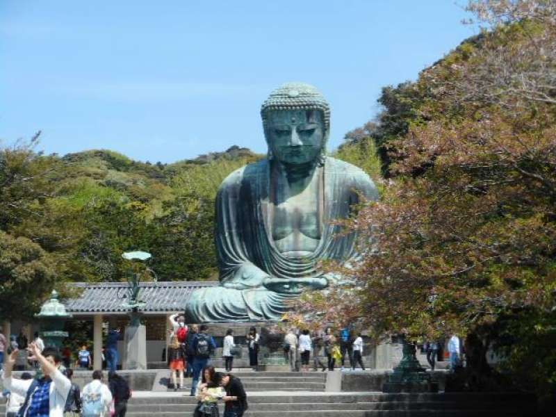 Great Buddha (Daibutsu) in Kamakura, an hour train ride from Tokyo