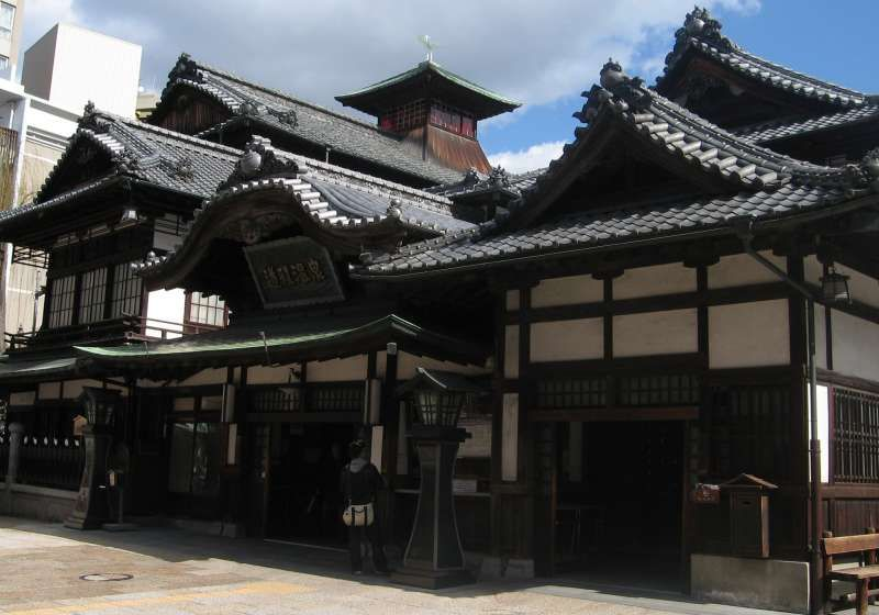 The main building of Dogo Hotspring