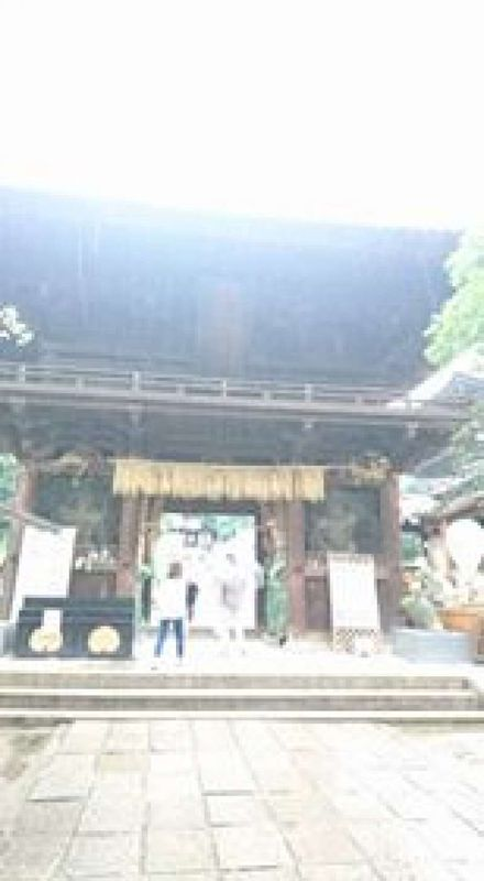 The gate of Ishite-ji Temple, which is called Nio-mon. It was built in 1318 and now designated as a national treasure.