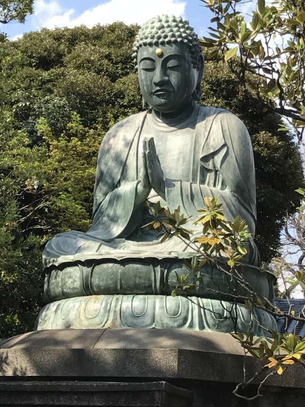 Great Buddha of Tennoji temple in Yanaka