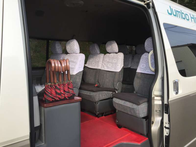 inside of Jambo car
