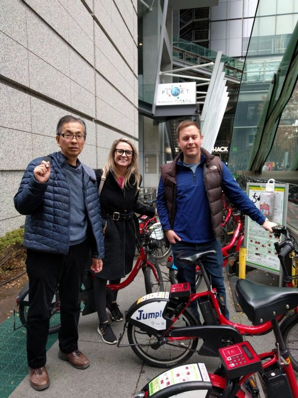 Couple  from Australia.  I guided the tour around Imperial palace with bicycle. They are very active.