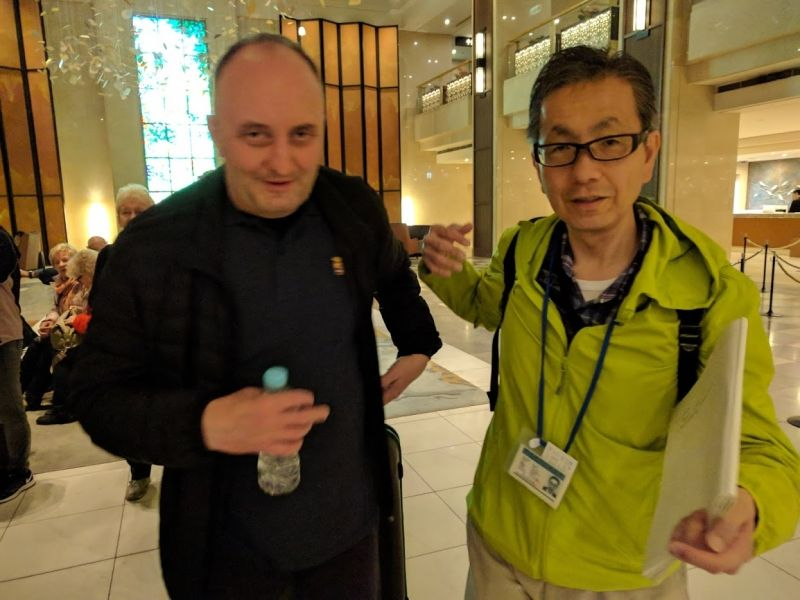 He is from Poland.  This is the last day photo in the hotel lobby.