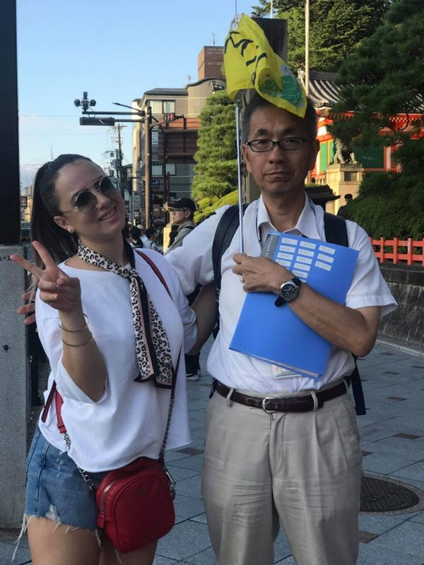 a customer from Israel. I guided Tokyo,Kyoto and Kanazawa.