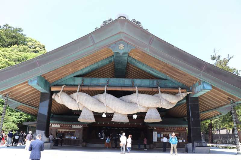 Front shrine (hall of worship) of Izumo Taisha shrine in Izumo City ,Shimane Pref.