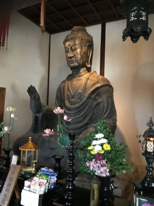 Asuka Buddha in Asukadera Temple.The first authentic temple in Japan founded in AD596.