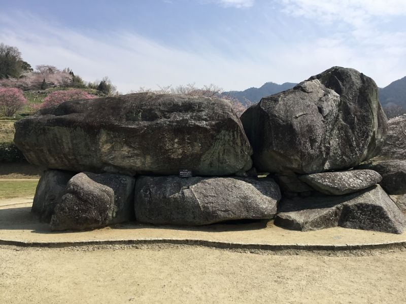 Ishibutai-kofun Tumulus. An ancient tomb represents Asuka. Made in the beg.of the 7th century.