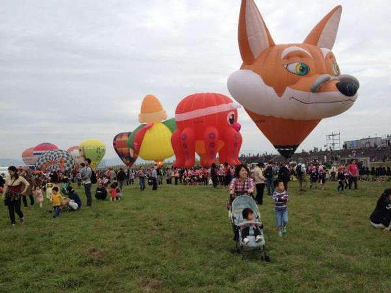 On Kids Day of Saga International Balloon Fiesta.
