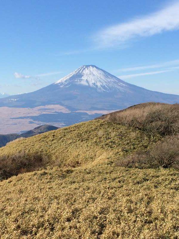 Mt. Fuji from Mt. Komagatake in Hakone on December