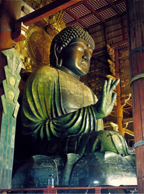Great Buddha in Todaiji Temple in Nara, World Heritage Site