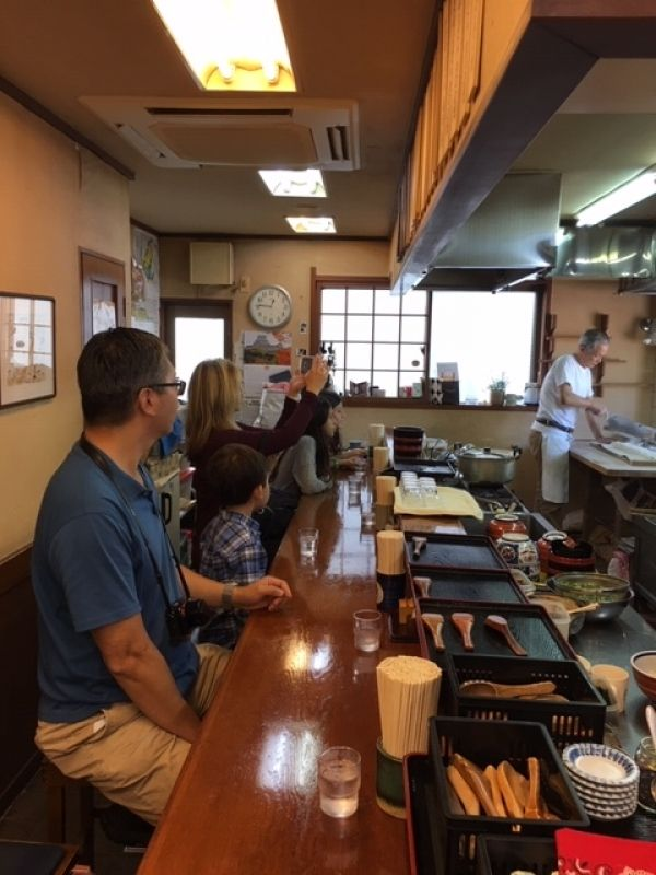 Udon noodle restaurant in Himeji: observing the process of cooking