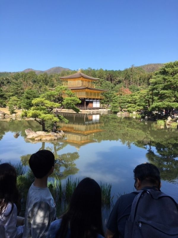 Kyoto's Kinkakuji Temple, Golden Pavilion, with its inverted image reflected in the pond might be the most beautiful.